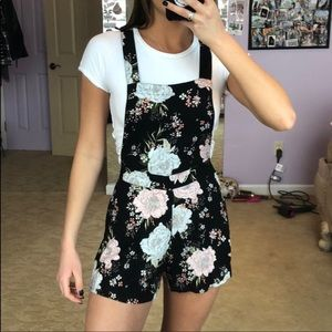 H&M Floral Overalls